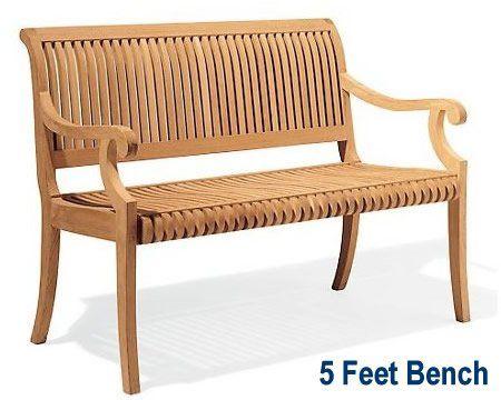 Amazon New Grade A Teak Wood Luxurious Outdoor Garden 5 Feet Bench [
