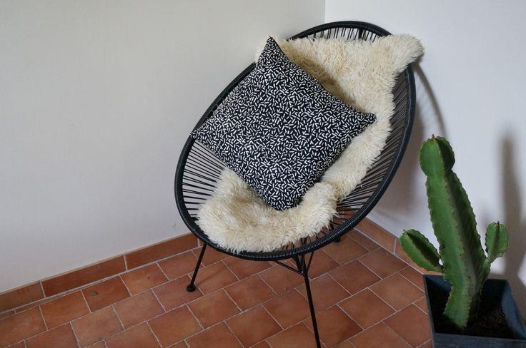 Polhoo ! Coussin motif design - pillow - cushion