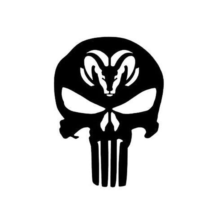 Details about PUNISHER Car Truck Window Vinyl Decal Sticker for DODGE RAM - shop onlineHigh quality decals are die cut and have no backgrounds (background is whatever you put it on).water-proof and uv resistancewater-proof and uv resistance Color : reflective white and black Material: vinyl Item Type: Details about PUNISHER Car Stickers Size: 10 cm x 10 cm ============================ Die Cut No Backgroun ======================================================== Description: