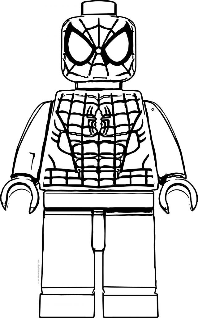 Lego Marvel Spiderman Coloring Pages Background