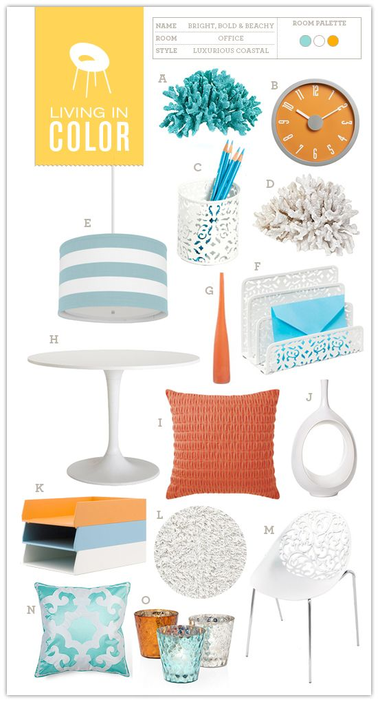 Living in Color #04: Bright, Bold + Beachy Office - Somewhere Splendid