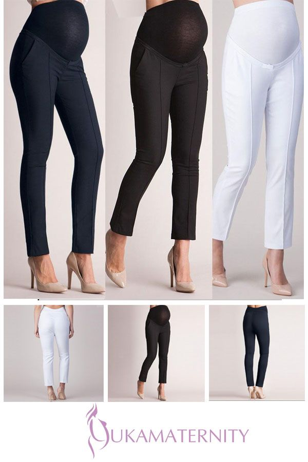 257dc475e2cc1 Maternity High Waist Slim Pencil Work Pants | Maternity Bottoms | Pants,  Work pants, Slim waist