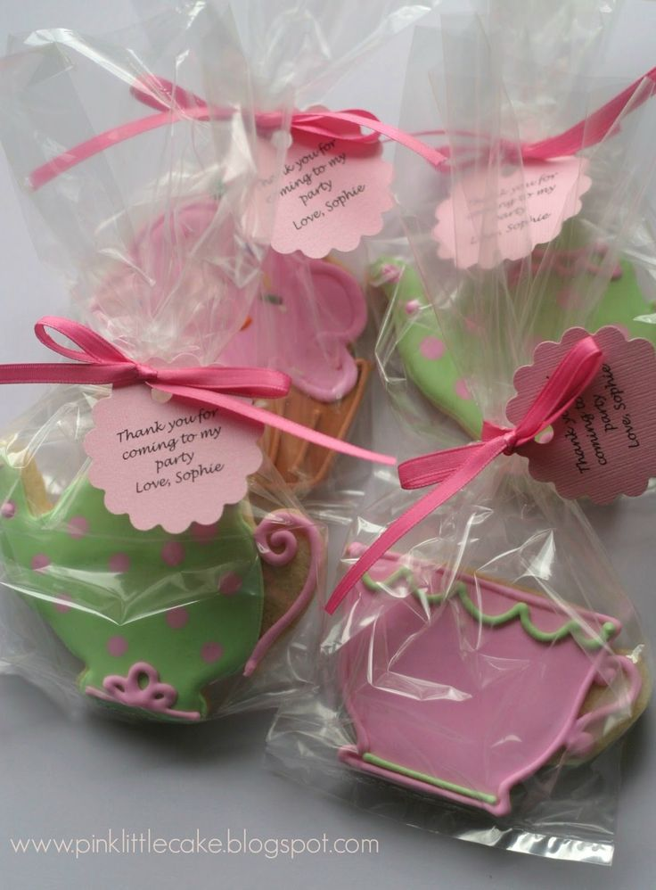 bridal shower teparty decorations%0A Tea Party theme cookies