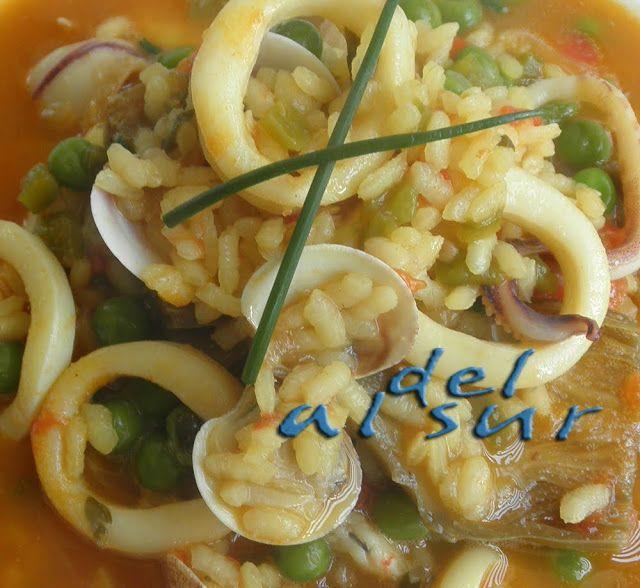 La cocina malagueña-Alsurdelsur: Arroz marinero