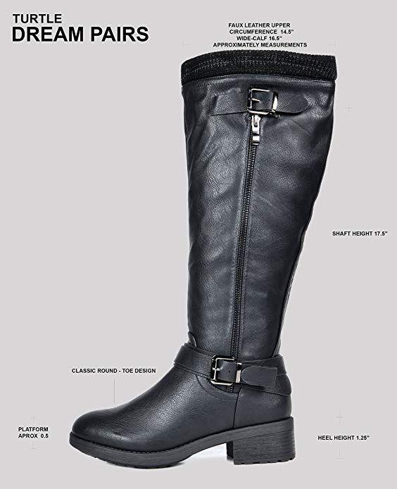 edaba3401dc1c Amazon.com   DREAM PAIRS Women's Knee High Riding Boots (Wide-Calf ...