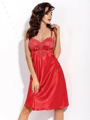 Czerwona koszulka nocna http://ekskluzywna.pl/bielizna-nocna-damska