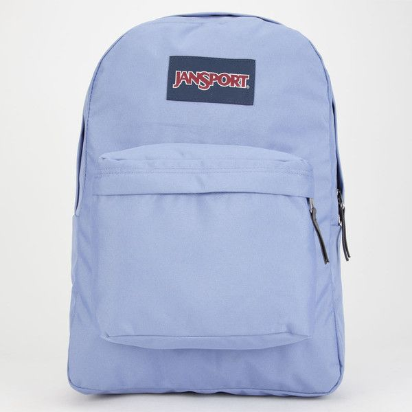 JanSport SuperBreak Backpack (53 CAD) ❤ liked on Polyvore featuring bags, backpacks, periwinkle, day pack backpack, strap backpack, jansport daypack, polyester backpack and blue backpack