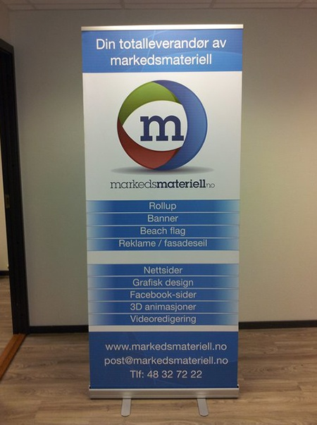 Welcome to Marketing materials - Your supplier of everything within marketing material rollup, market marketing material, roll-up, beach flags, exhibition wall, banner, advertising banner and front sails, booth walls, rollups, roll-ups, beach flag, beach banner, square beach flags, Graphic design over Norway -norway -  markedsmateriell.no