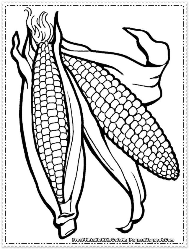 coloring #corn #pages #printable #2020 in 2020   Coloring pages ...   842x640