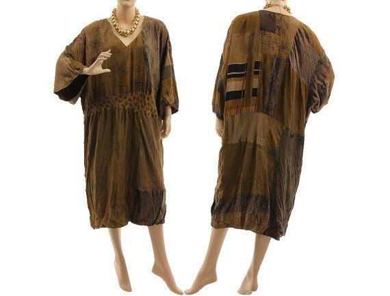 Artsy boho silk dress oversized occasion silk dress von classydress