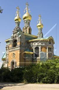 Mathildenhöhe, Die Russische Orthodoxe Kirche der Hl. Maria Magdalena, Darmstadt, Hessen,