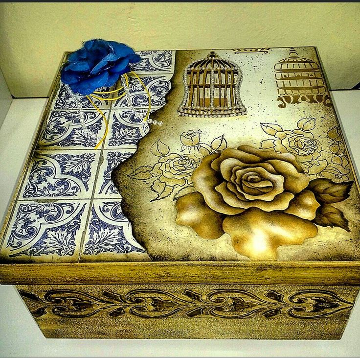 Caixa de scrapbook com textura <br>Um excelente presente para quem você ama!!!