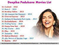 Deepika Padukone Movies List 16 to 30 #deepikapadukone # ...