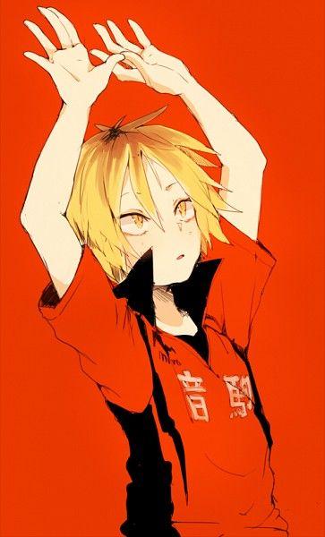 Tags: Red Background, Shiuka (Shiupiku), Haikyuu!!, Volleyball Uniform, Kozume Kenma