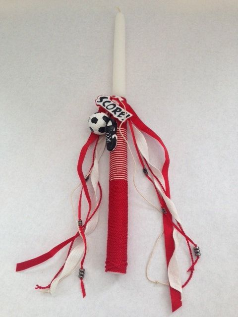 Sports Collection Easter Candle Labada Lampada by LimaniDesigns, Labades, Easter Labada, Easter Candles, Easter Labades
