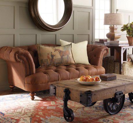 Диван Честерфилд в интерьере - 50 Фото - Мебель в интерьере