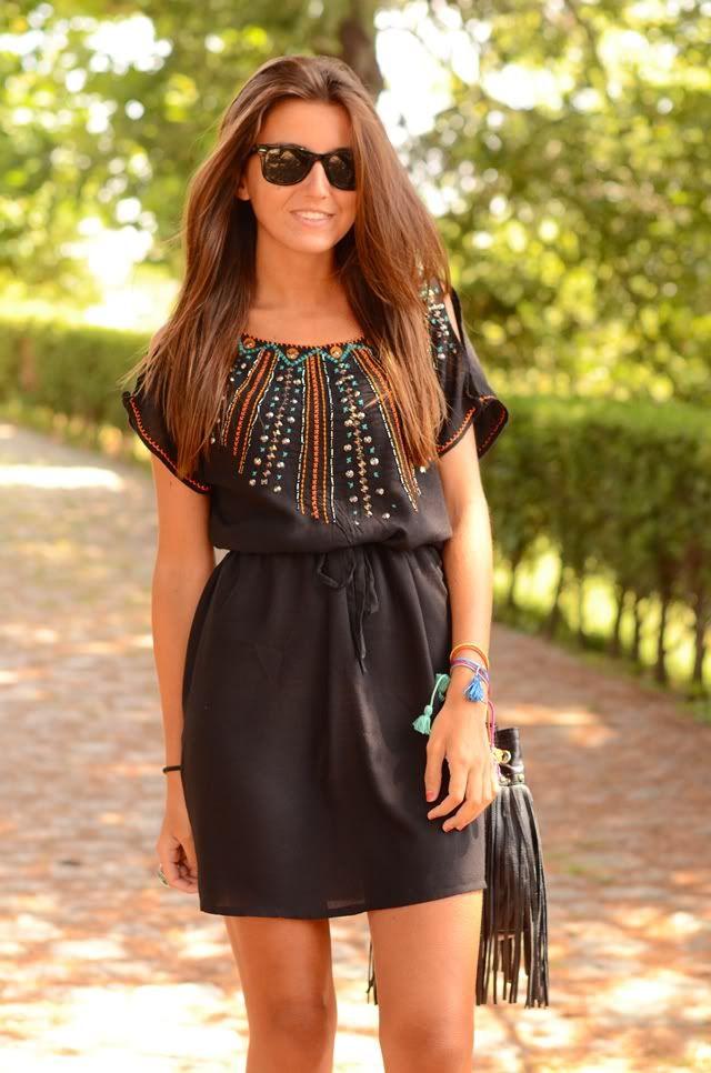 Love the dress!: Beaches Dresses, Black Dresses, Cute Dresses, Dream Closet, Festivals Outfit, Dresses Styles, Casual Summer Dresses, The Dresses, Casual Dresses