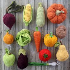 Gebreide food - OlinoHobby 100% handgemaakte: handgemaakte speelgoed en accessoires, masterclasses