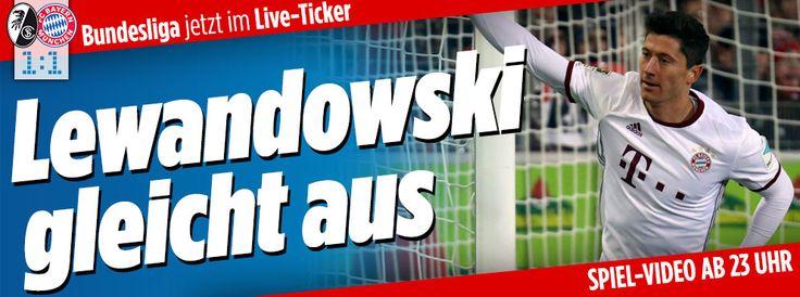 Freiburg - Bayern im Liveticker auf Bild.de http://www.bild.de/bundesliga/1-liga/saison-2016-2017/sc-freiburg-gegen-fc-bayern-muenchen-am-17-Spieltag-46905968.bild.html