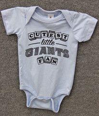 Cutest Little Giants Fan Onesie- Light Blue