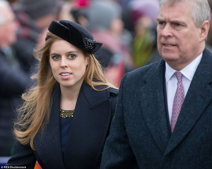 Princess Beatrice arrived at St Mary Magdalene Church alongside her father Prince Andrew...