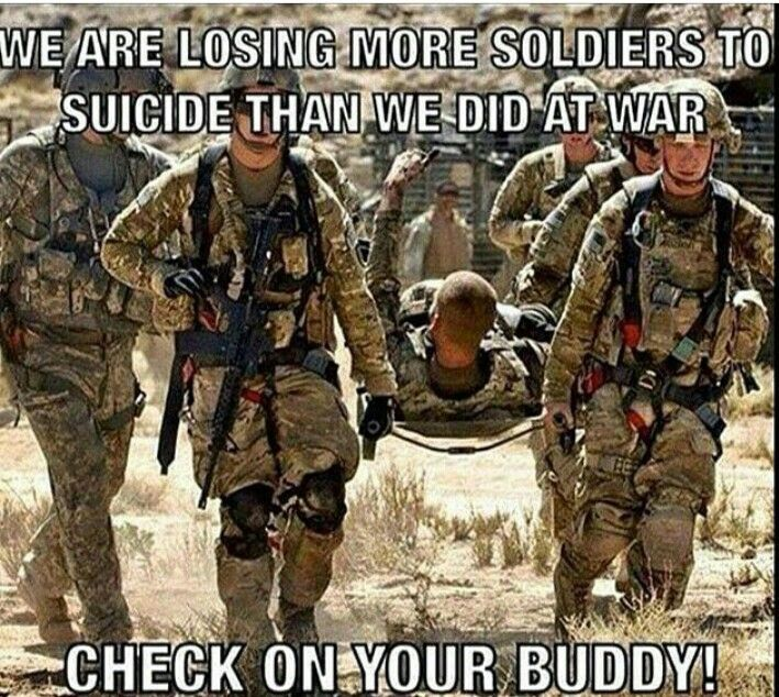 This is especially true during the holiday season when depression is at its highest amongst all demographics. Please take a moment to check on those alone. Whether it's your battle buddy, friend or relative, take just a moment to let them know you care. Sometimes the deciding factor between death and fighting one more day is something as small as a smile or a kind word.