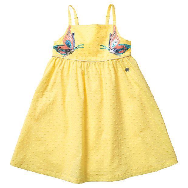 Tutu's & Tambourines Sunshine Butterfly Dobby Dress