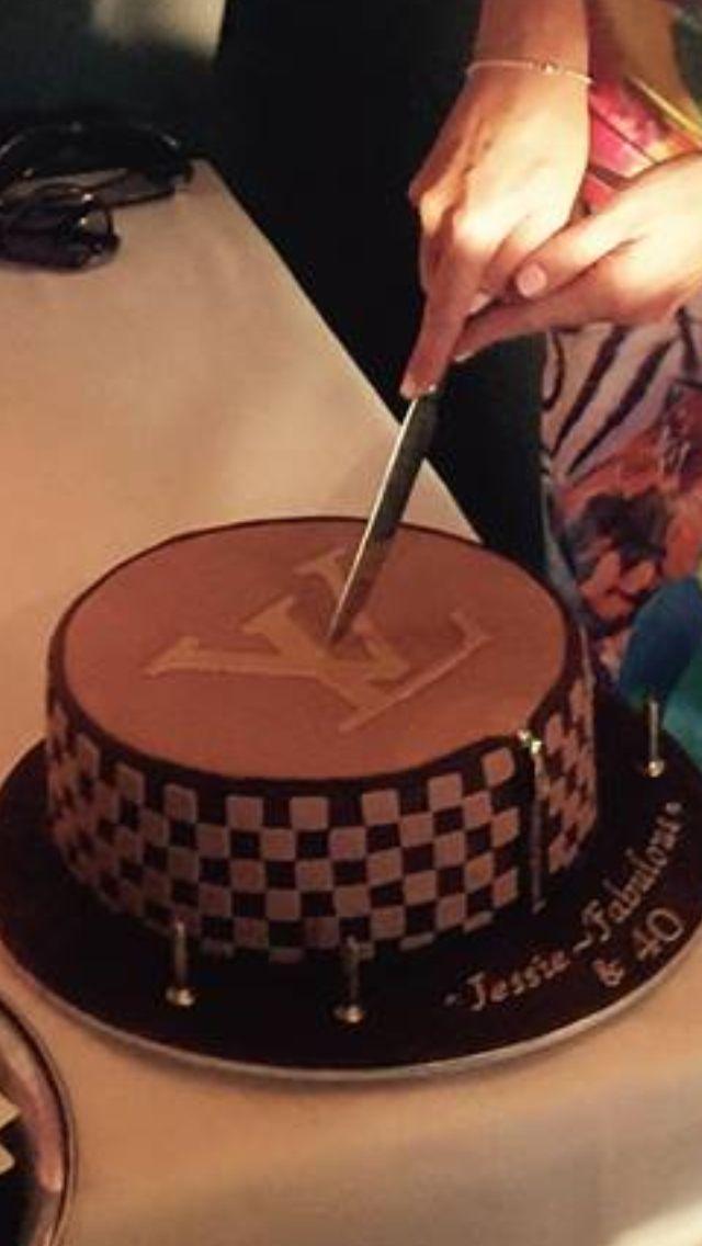 Louis Vuitton cake (flower birthday cake)