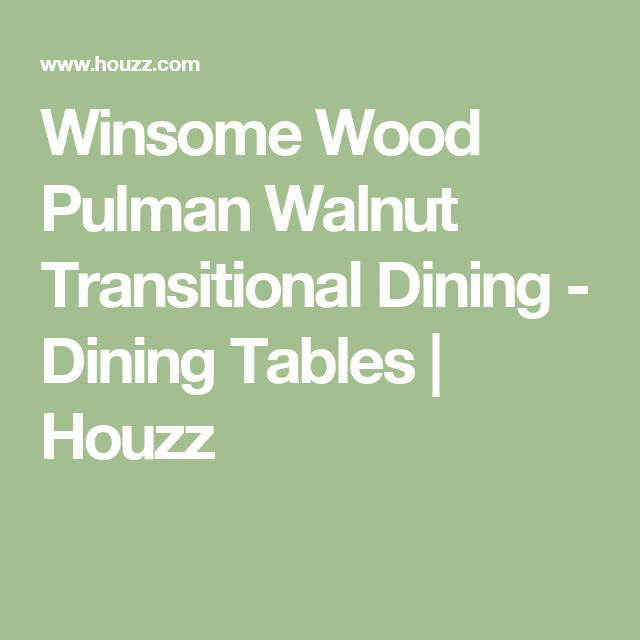 Winsome Wood Pulman Walnut Transitional Dining - Dining Tables | Houzz