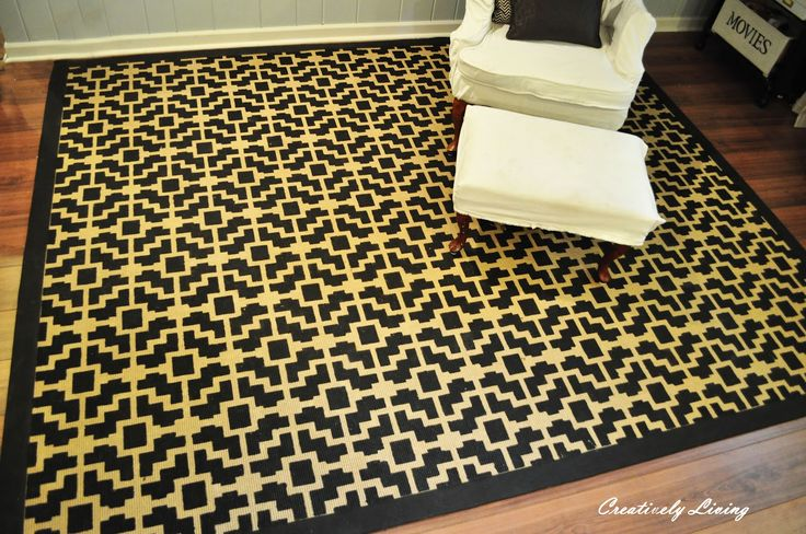 Creatively Living: Stenciled Rug Tutorial