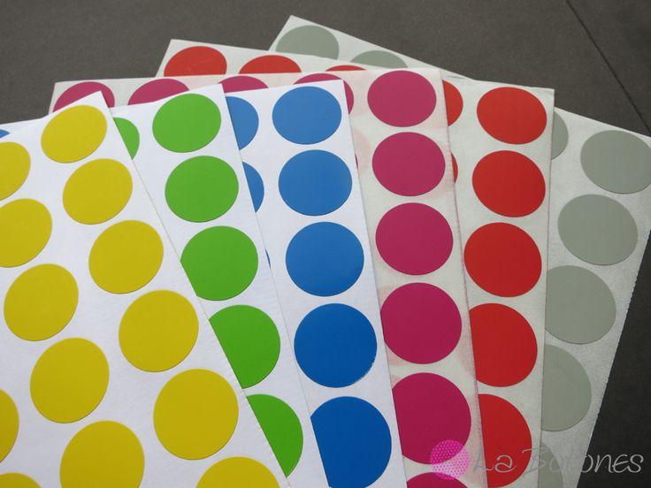 240 Klebepunkte 6 Farben von La Botones auf DaWanda.com