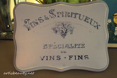 ART IS BEAUTY: Guest Post Freezer Paper transfer French Wine plaque