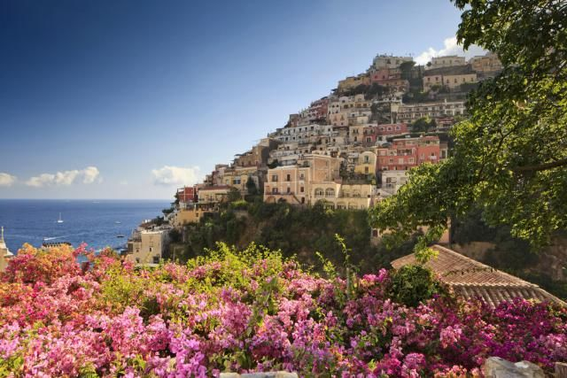 How to get to Sorrento, Positano, Pompeii, and Mount Vesuvius from Rome or Naples, Italy with train and ferry information.