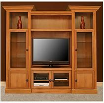 "Curtis Mathes 104"" Home Theater Cabinet - Honey"