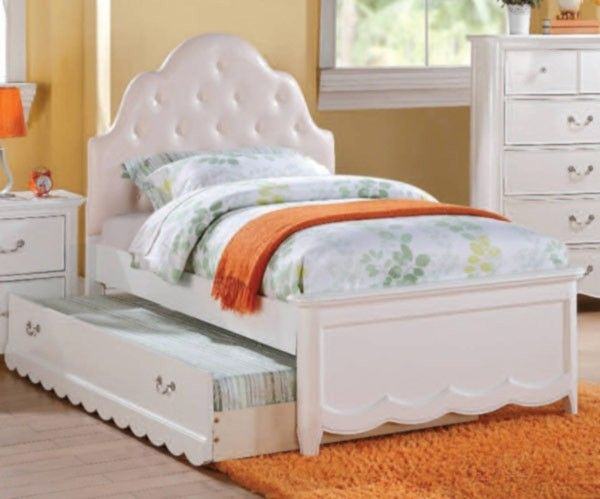 Acme Furniture - Cecilie Wood Twin Bed with Trundle in White - 30300T