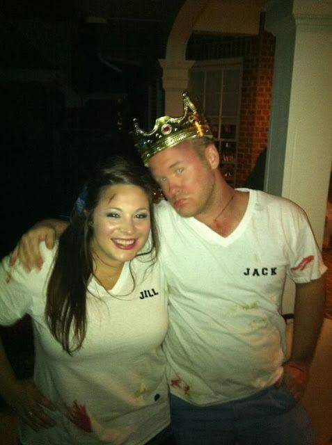 Jack & Jill Couples costume.: Decor Ideas, Halloween Costumes Ideas, Halloween Costume Ideas, Couples Costume, Fall Halloween, Couple Halloween Costumes, Couple Costumes, Diy, Halloween Ideas
