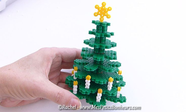 DIY 3D Christmas tree hama beads by Rachel