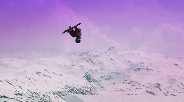 Andrea Bergamaschi flipping hard on the Mottolino Snowpark XL line!! #mottolino  #livigno #snowboard #funky
