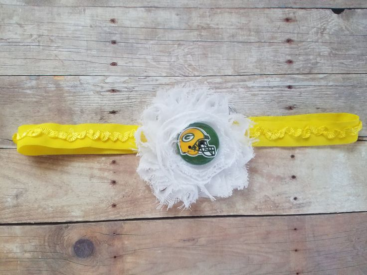 Packers baby headband-Green Bay Packers baby headband-Packers headband for infant-Packers headband for baby-Green Bay headband for baby by CocoandEllieDesign on Etsy