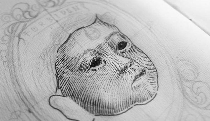 On progress  #illustrations #artwork #darkart #iblackwork #linework #scratchboard #cult