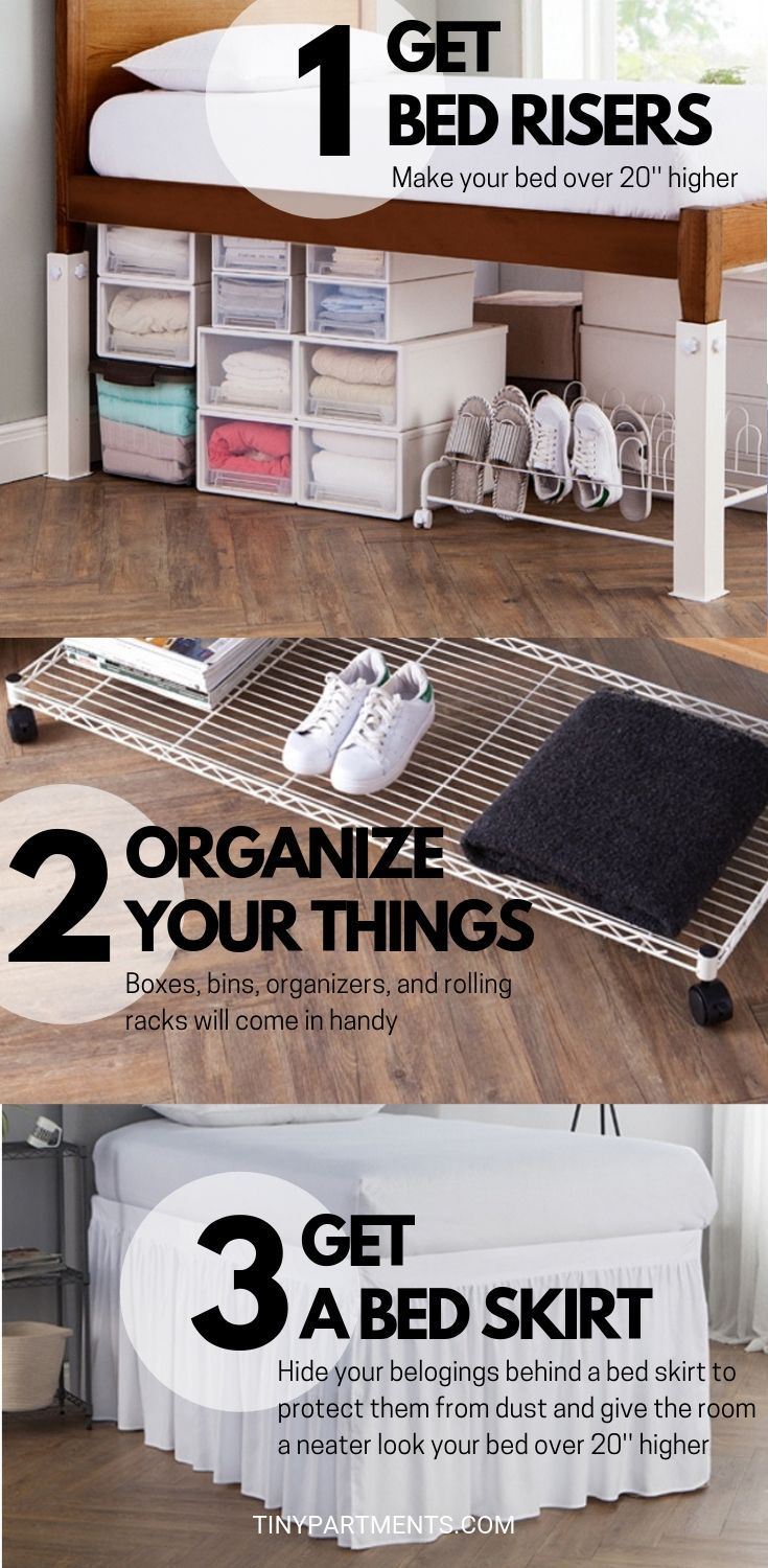 22 Insanely Clever Dorm Room Storage Ideas Space Savers Bedroom Storage Ideas For Clothes Dorm Storage Dorm Room Storage