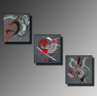 TRYPTIQUE Taille : 30X30 (x3) Peinture Peinture abstraite Acrylique au couteau/pinceau Toile sur châssis bois Cotation Drouot Site officiel : http://www.mapeinturesurtoile.com Prix : me contacter