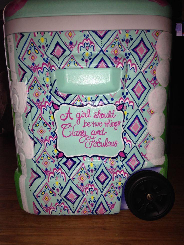 Diy Painted Cooler : Best coolers images on pinterest frat