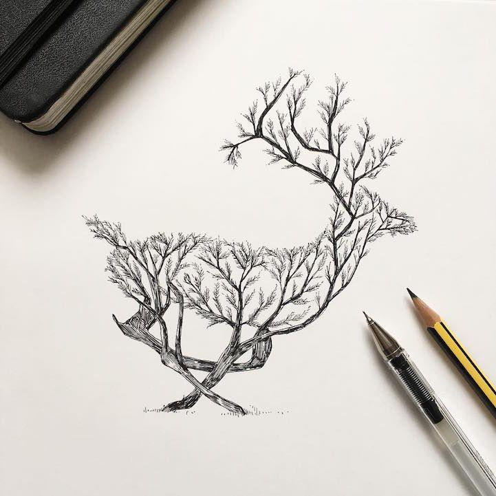 Les 25 meilleures id es de la cat gorie tatouage de cerf sur pinterest dessin de cerf - Tatouage cerf signification ...