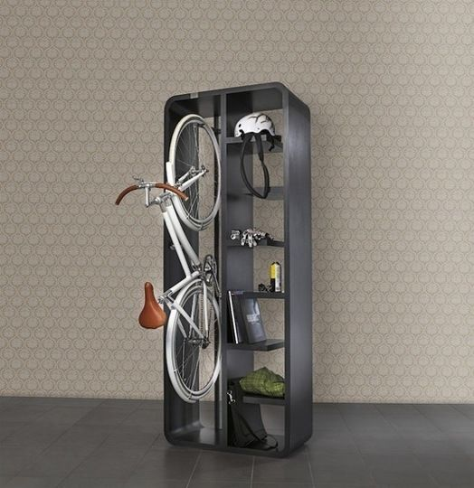This product seems like the perfect thing for the person who loves both books and cycling, like Einstein, the ever cycling professor. Whether you want to store books or simply store bike gear, like a helmet, bike lights and a basket, the Bookbike by Byografia makes bike storage more attractive, functional and easier to integrate into your home decor.