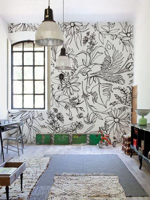 M s de 25 ideas fant sticas sobre paredes pintadas de for Cuarto negro con blanco