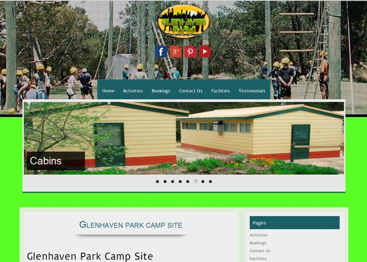 Home Page for Glenhaven Park camps