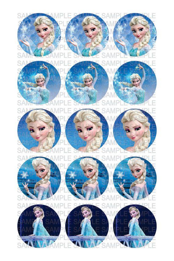 frozen elsa digital 4x6 jpg file for  15  1 u0026quot  circle images for bottle caps