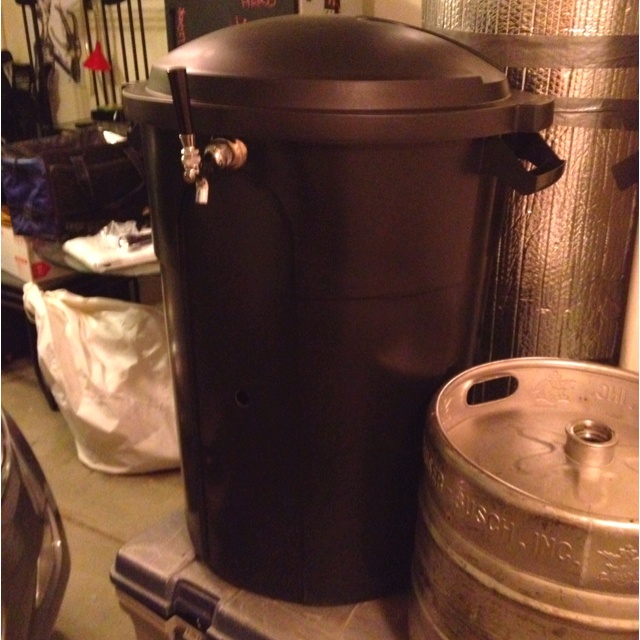 This is my trash can kegerator