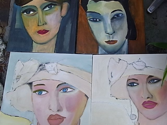 Impressionist portraits and expressionists portraits of women